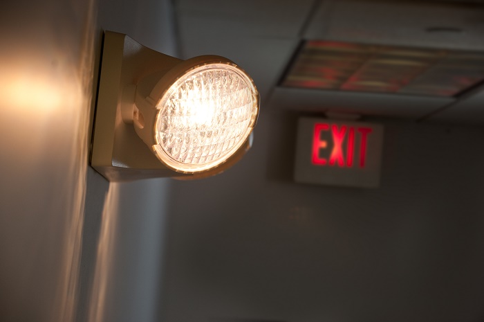 exit light with emergency light