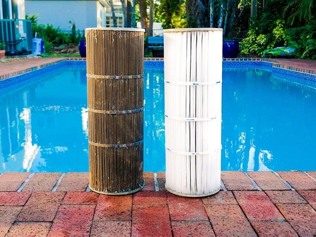 swimming pool filter cartridge replacement