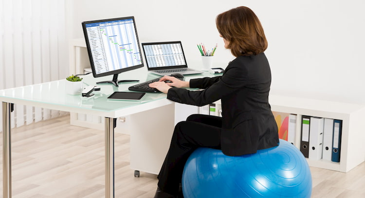 exercise-ball-as-chair