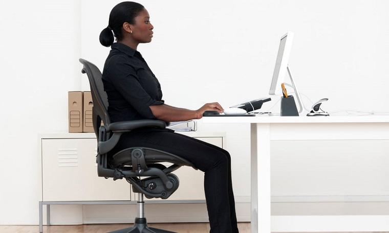 Office chair for armrests