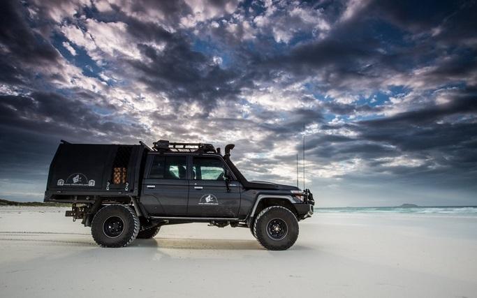 4x4 truck on the beach