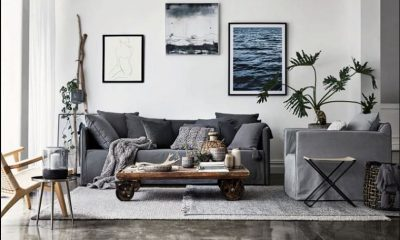 industrial-living-room-design-with-photographs-of-nature