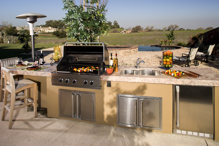 outdoor alfresco patio kitchen full set