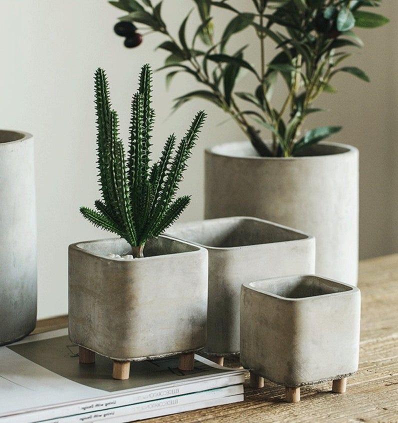 concrete modern planter
