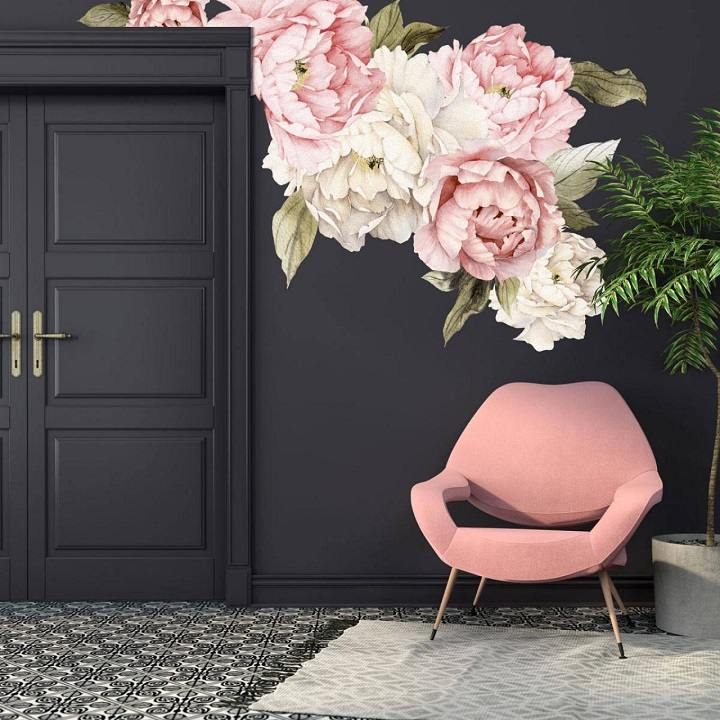 Flower Accent Wall