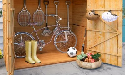 Wooden-bicycle-shed