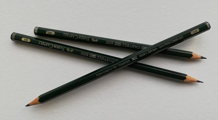close up of graphite pencils