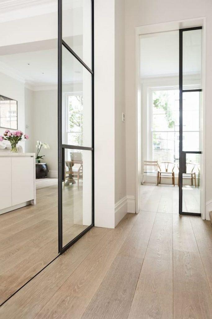 beautiful vinyl flooring hallway